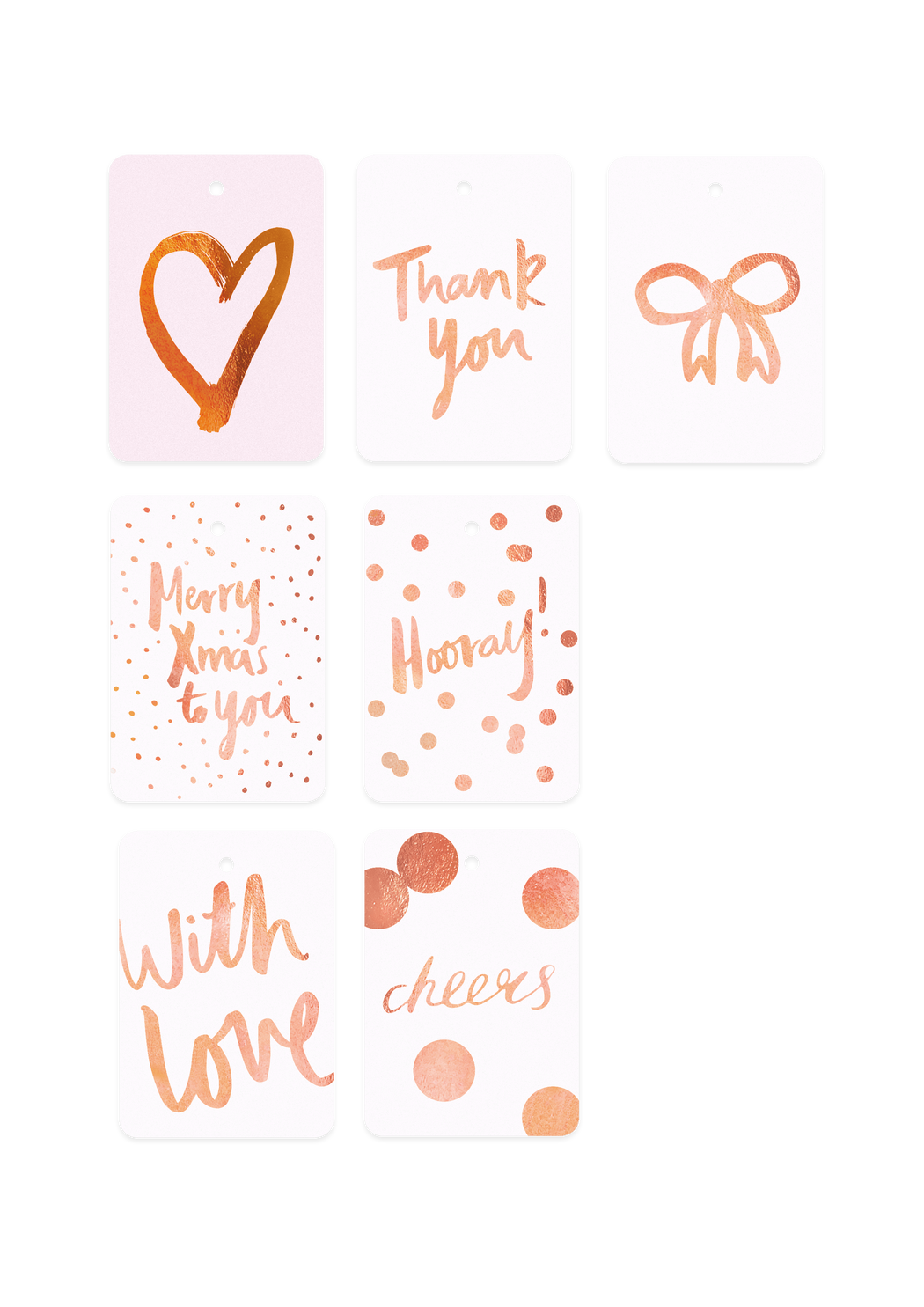 Individual Foiled Gift Tags (Print)