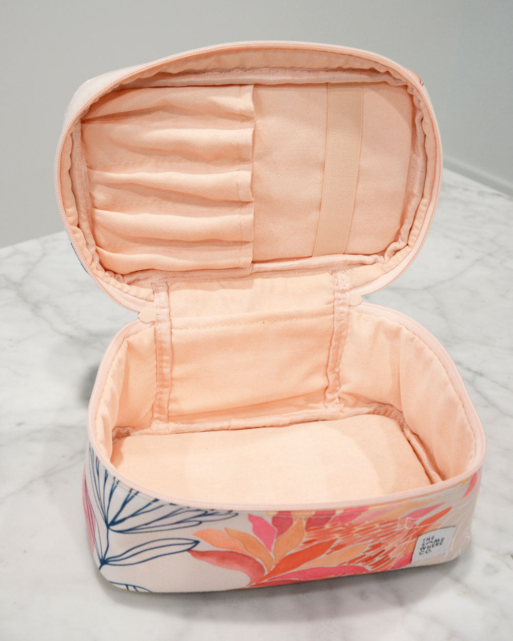 Brushed Protea Cosmetic Case