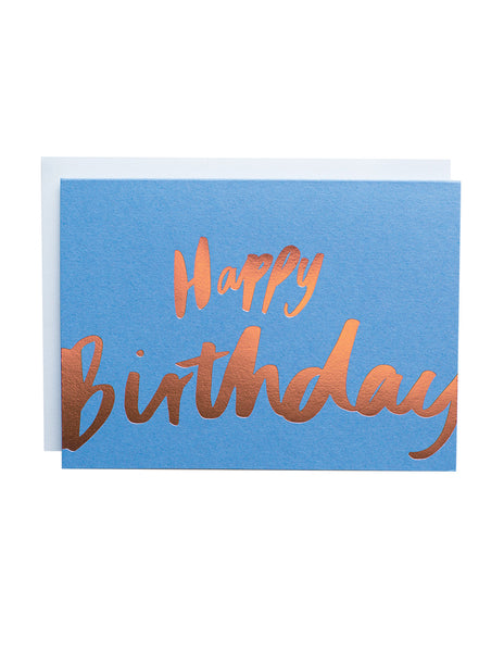 Happy Birthday Big Letters foiled greeting card