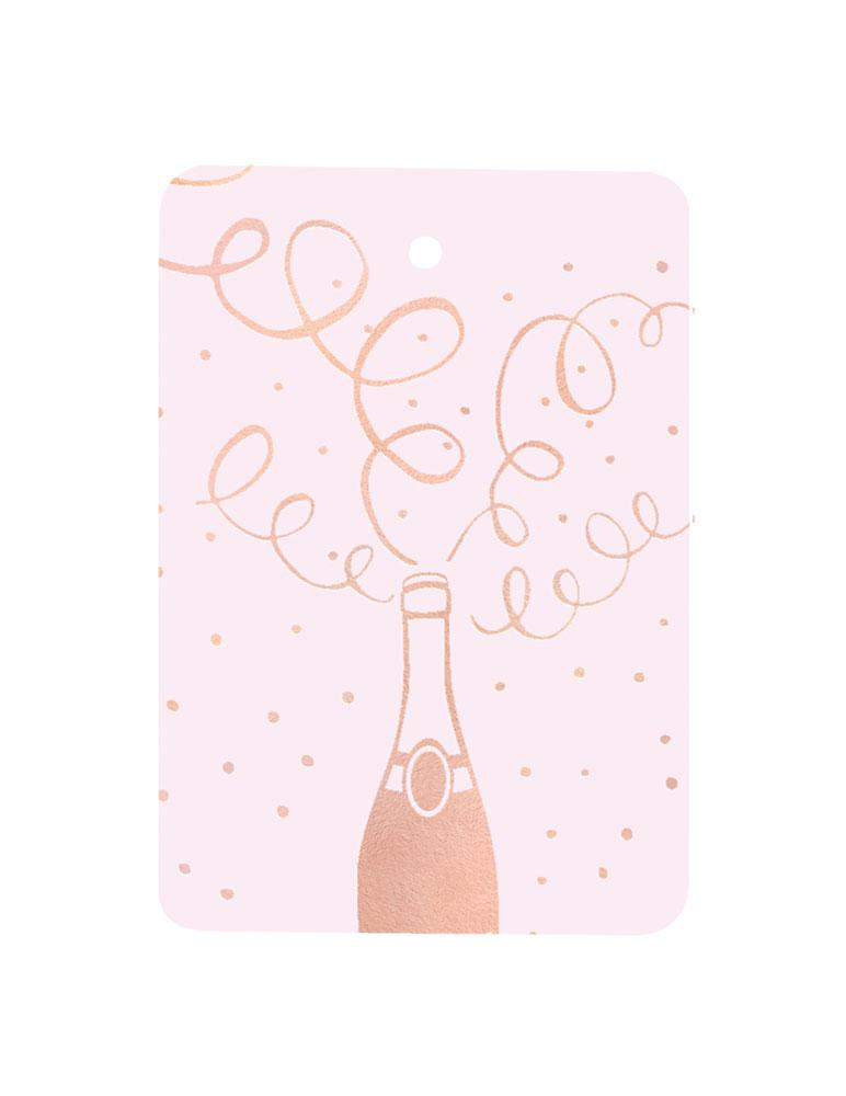 Champagne Foiled Gift Tag