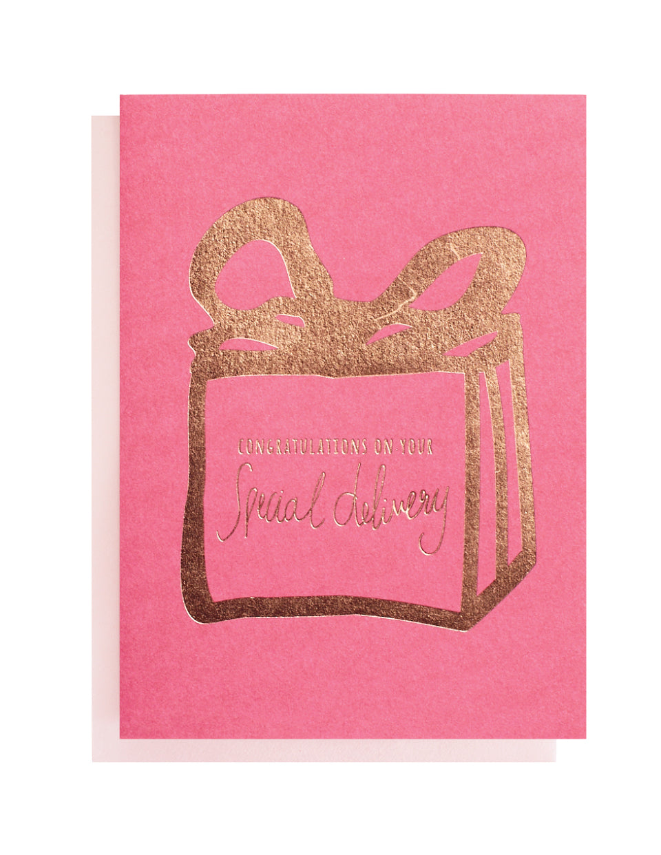 Special Delivery Foiled Greeting Card Blushing Confetti