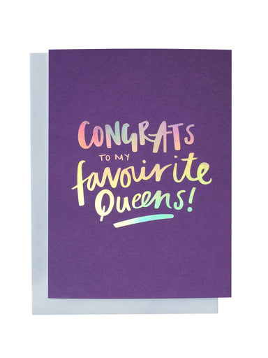 Favourite Queens Greeting Card | Blushing Confetti