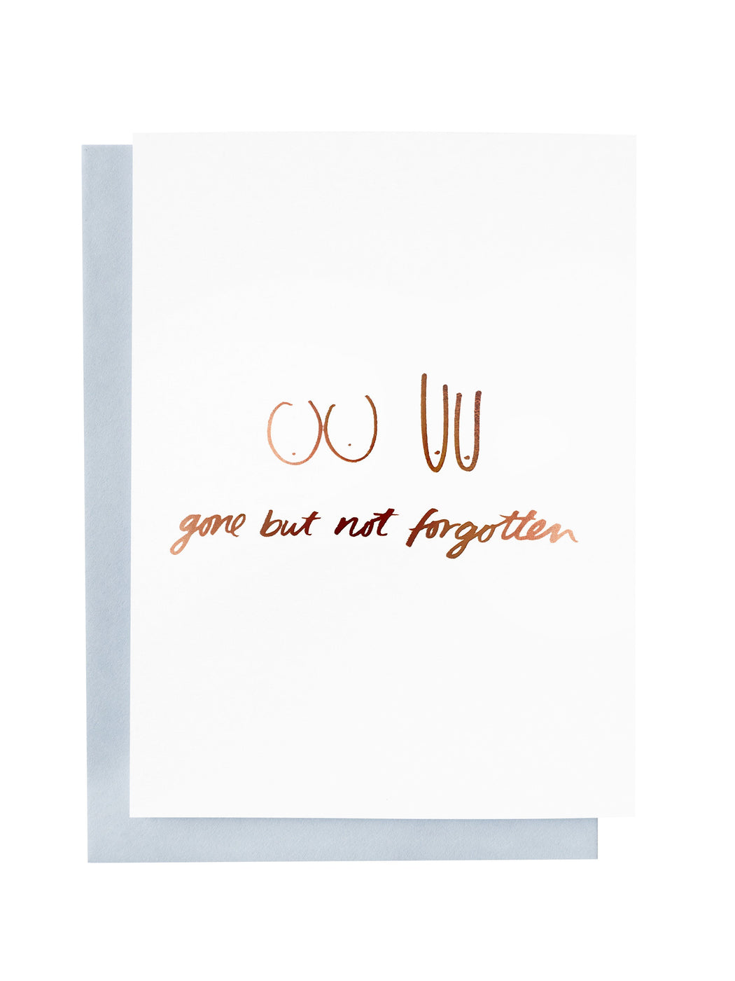 Gone but not forgotten Greeting Card | Blushing Confetti