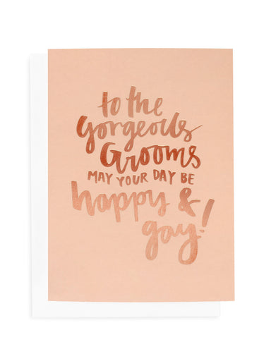 Gorgeous Grooms Greeting Card | Blushing Confetti