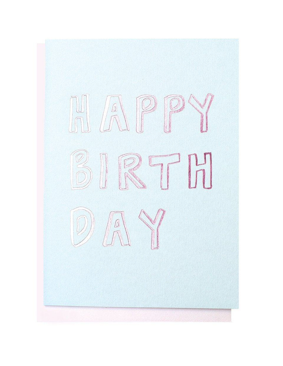 Happy Birthday Letters foiled greeting card | Blushing Confetti