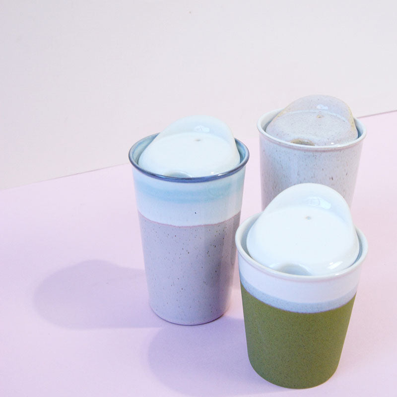 Olive Mini Ceramic Reusable Cup