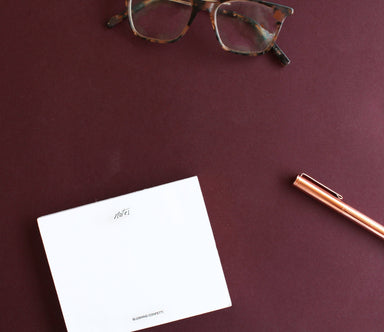 Unlined Mini Notepad: Rose Gold Edge | Blushing Confetti