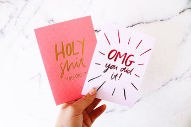 Holy Shit! Foiled Greeting Card | Blushing Confetti