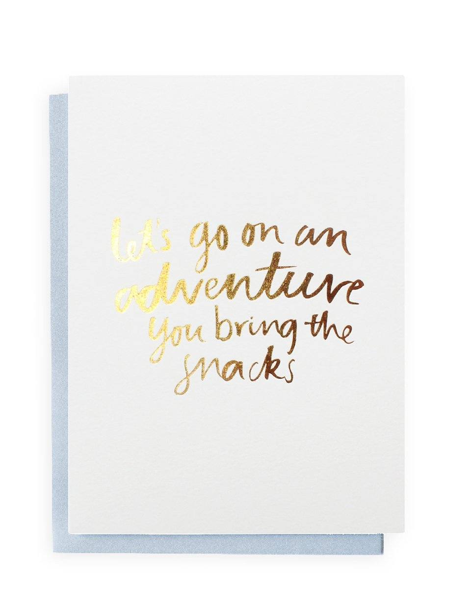 Lets Go on an Adventure Greeting Card | Blushing Confetti