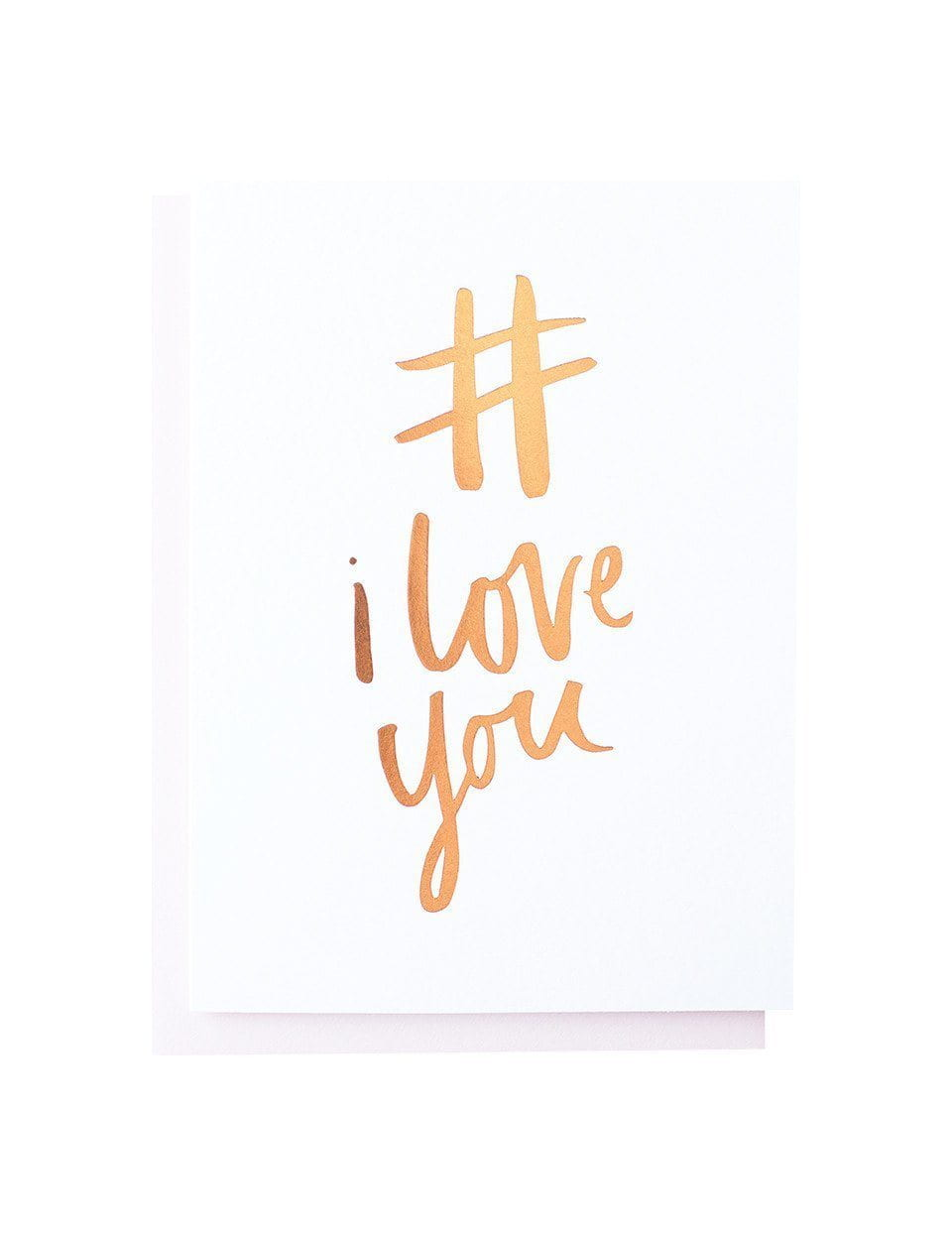 # I Love You Greeting Card | Blushing Confetti