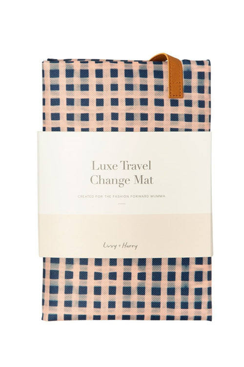 Travel Baby Change Mat Classic Gingham