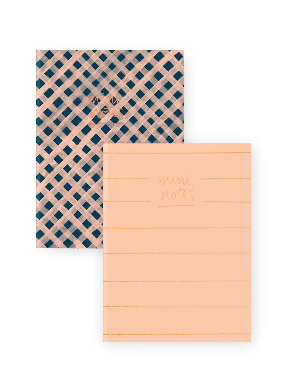 A6 Notebook Set 2PK: Gingham Stripe | Blushing Confetti