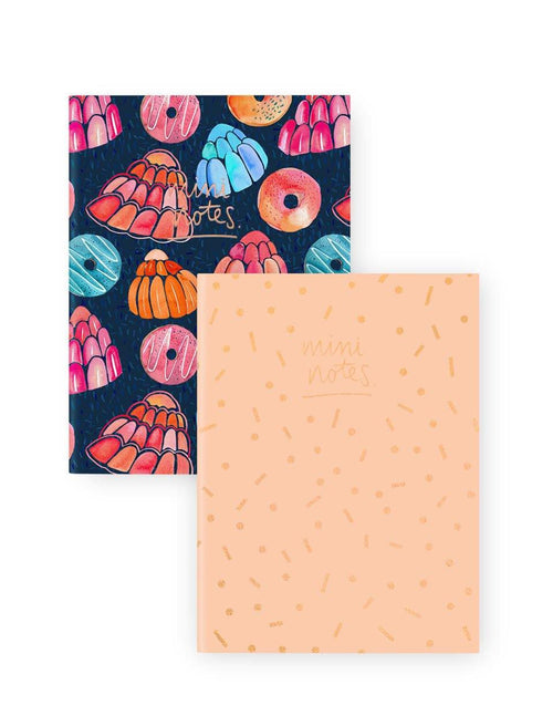 A6 Notebook Set 2PK: Dessert Confetti