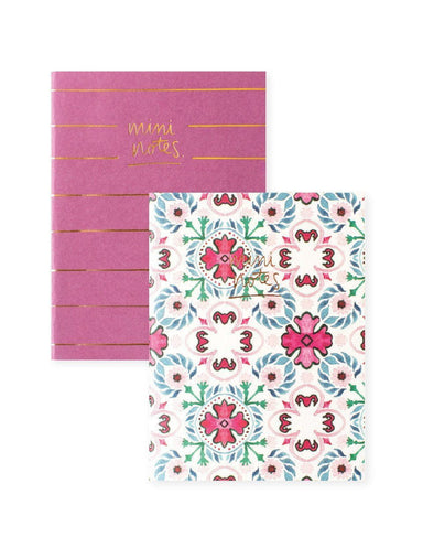 A6 Notebook Set 2PK: Green Floral Polka Dot | Blushing Confetti