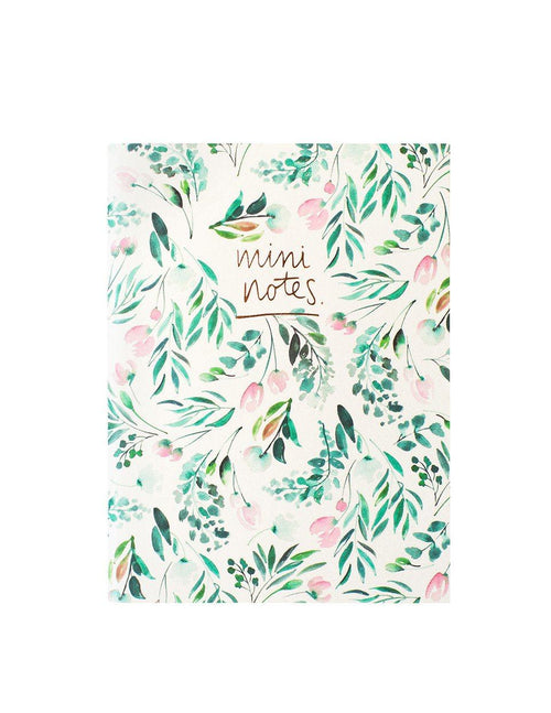 A6 Notebook Set 2PK: Pink Floral Polka Dot