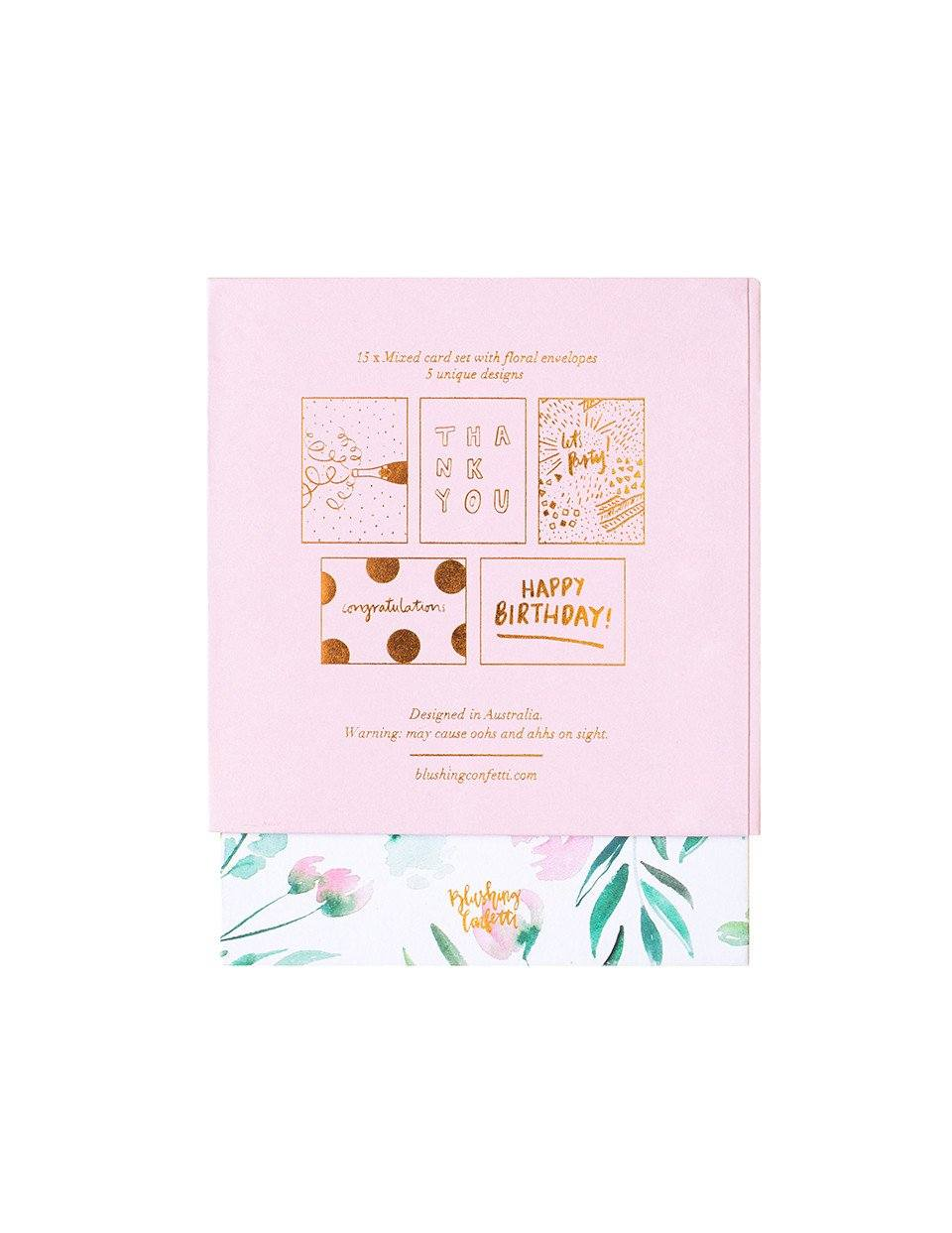 Mixed Greeting Card Set | Blushing Confetti