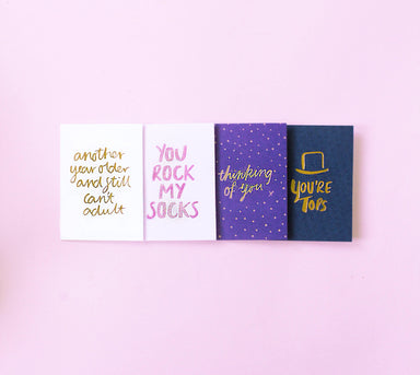 Thinking of you foiled greeting card | Blushing Confetti