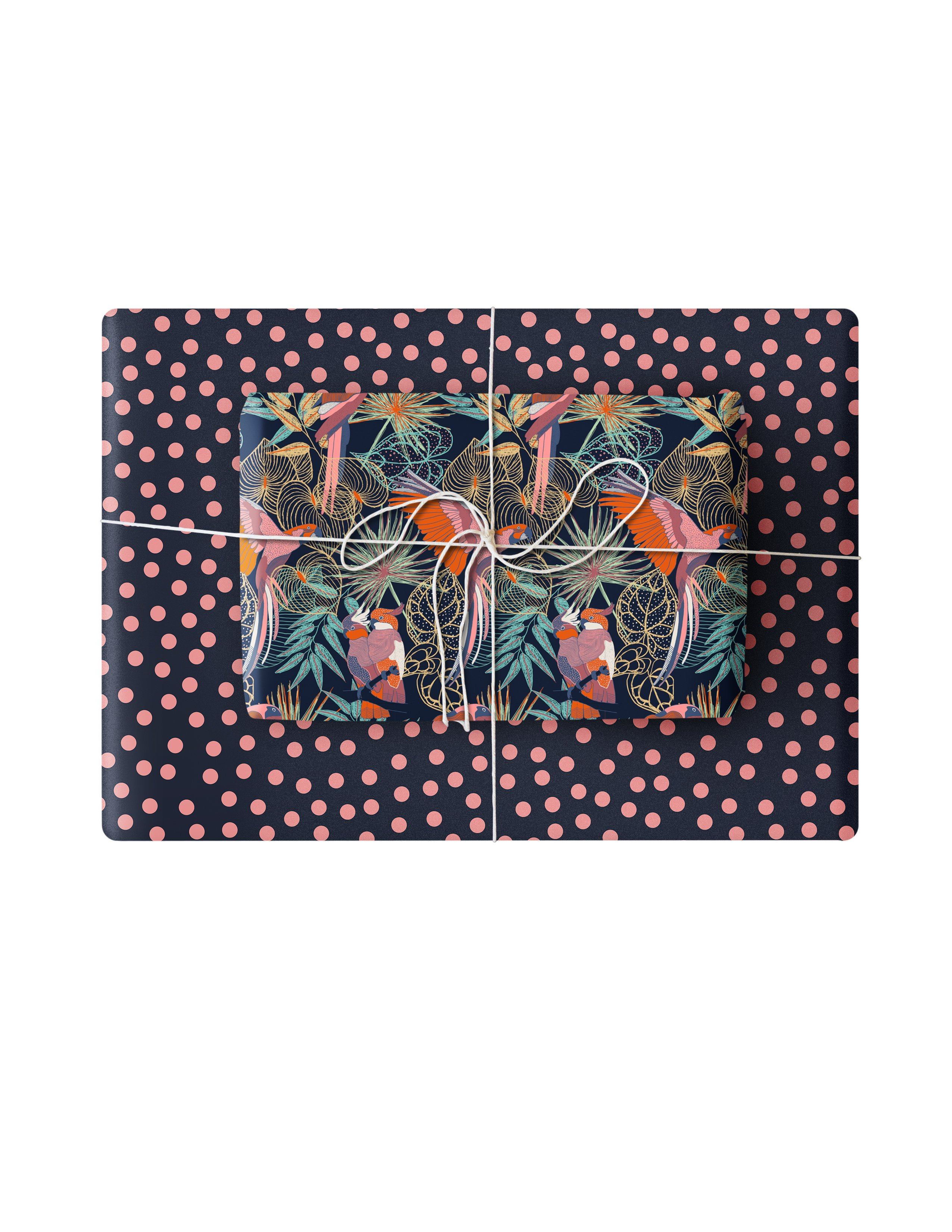 Double Sided Wrapping Paper 3PK: Tropical Birds