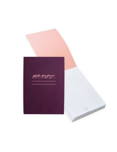 Mini Messages A6 Lined Notepad | Blushing Confetti