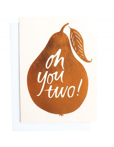 Oh You Two Greeting Card | Blushing Confetti