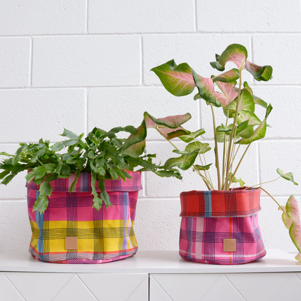 Paint it Plaid Large Planter Bag
