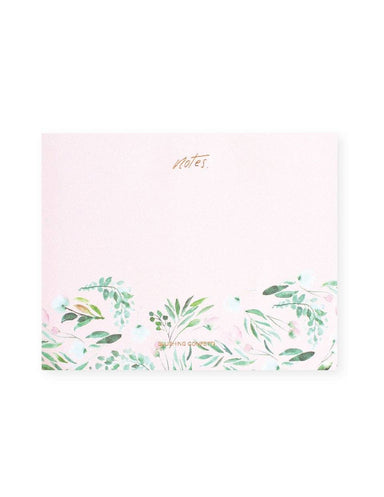 Unlined Rose Gold Floral Notepad | Blushing Confetti