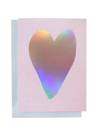 Rainbow Heart Greeting Card | Blushing Confetti