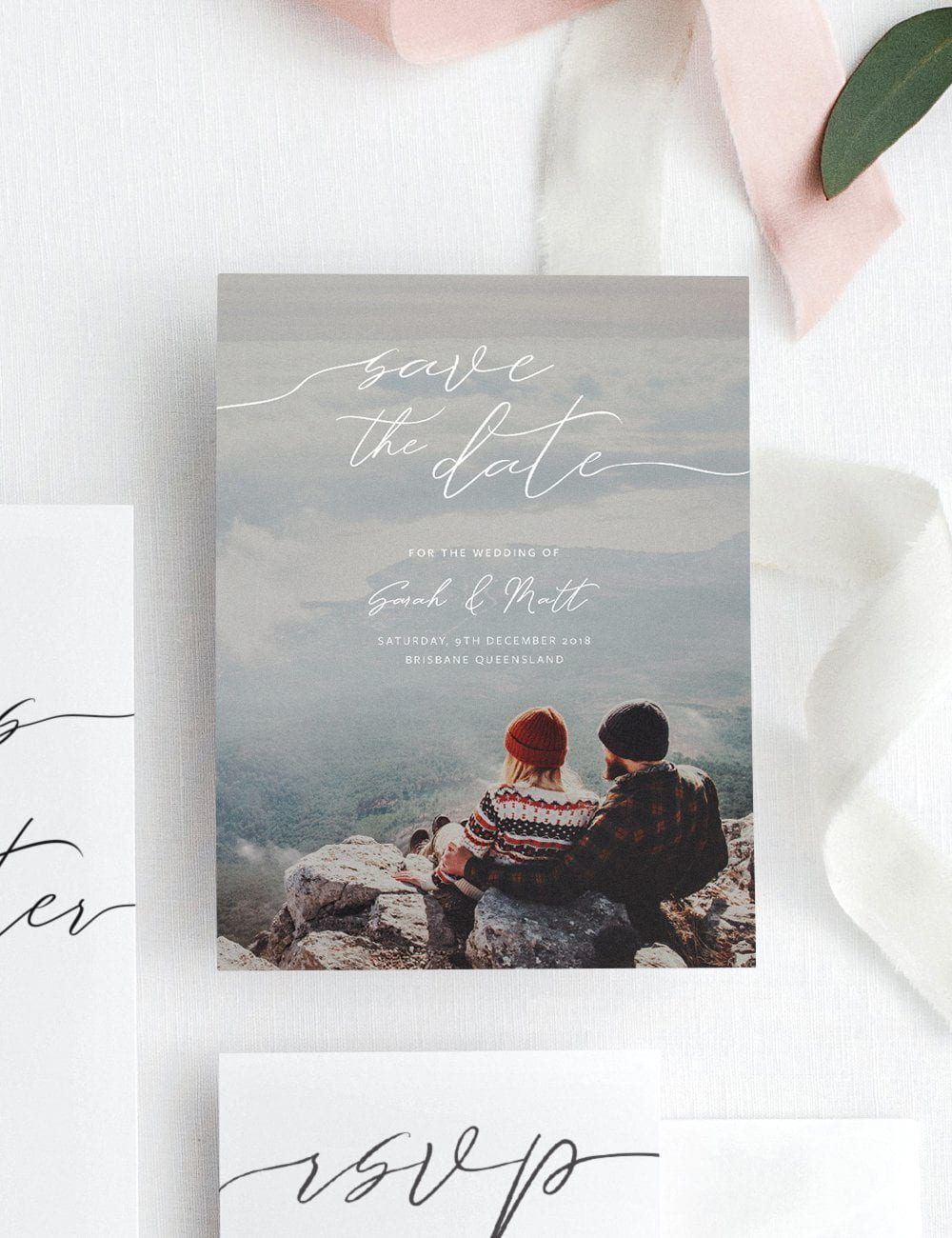 "Wedding Save The Date ""Something In The Way She Moves"""