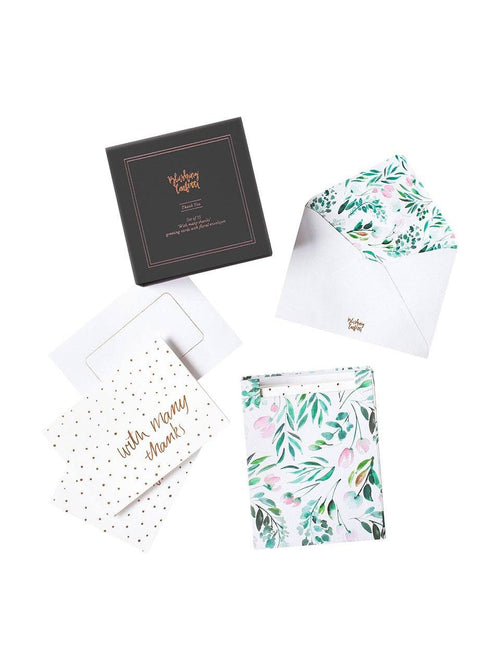 Thank You Card Pack: Floral & Rose Gold