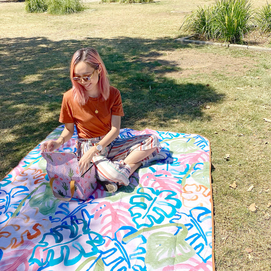 Wild Monstera Picnic Rug