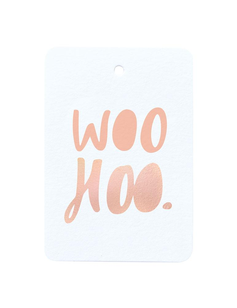 Woohoo Foiled Gift Tag