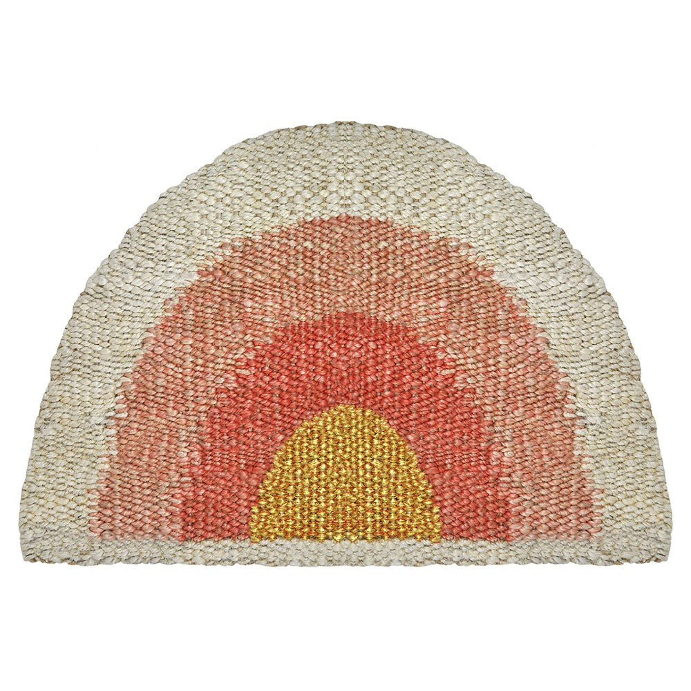 Aquarius Doormat - Coral/Peach/Gold