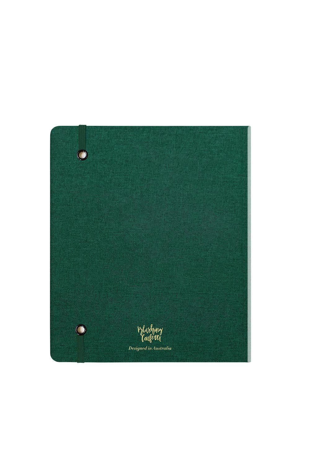 Where to Today - Forest Green Linen Weekly Planner 2020