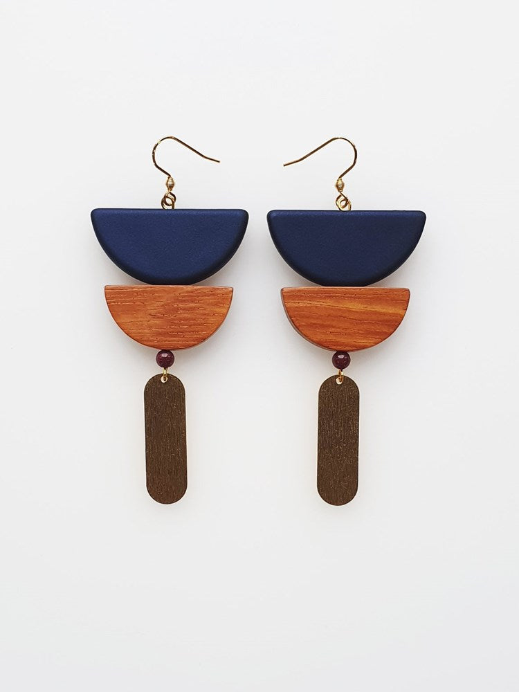 Breuer Earrings - Navy