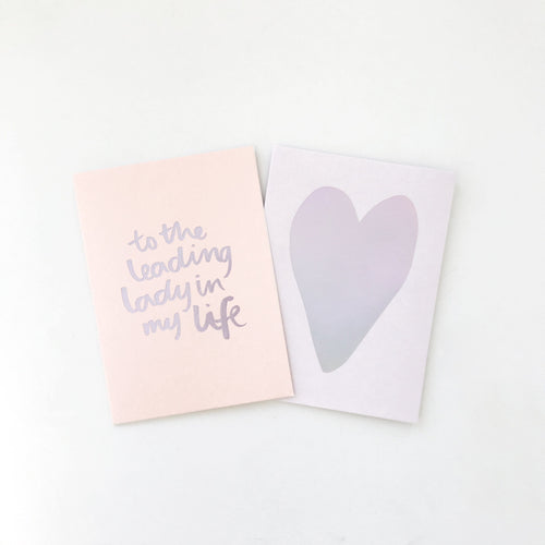 Leading Lady Greeting Card