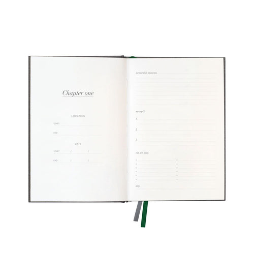 Charcoal Linen Travel Journal