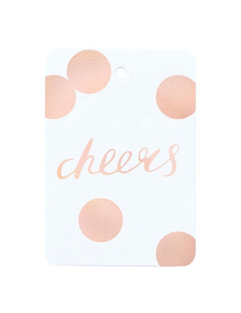 Cheers Foiled Gift Tag