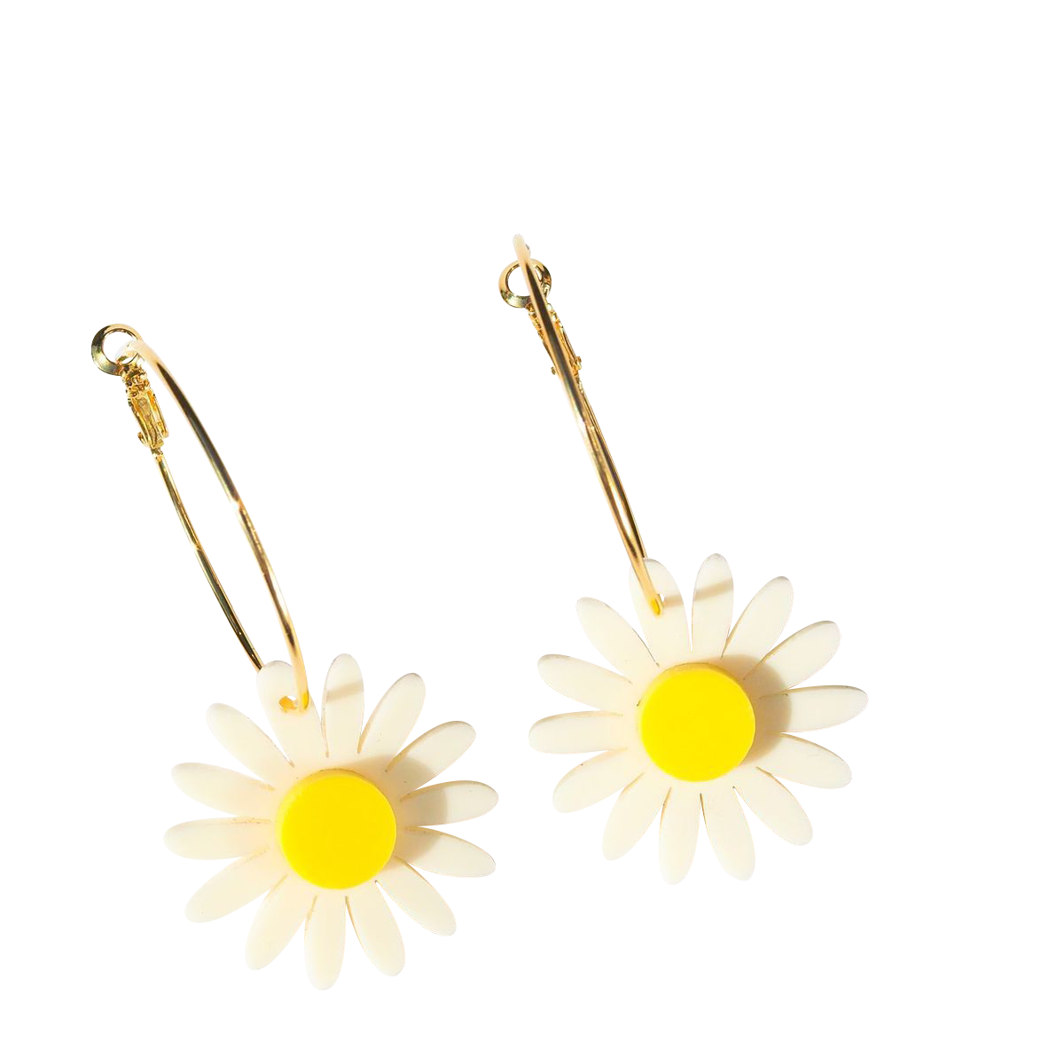 Daisy Earrings - Yellow and Cream