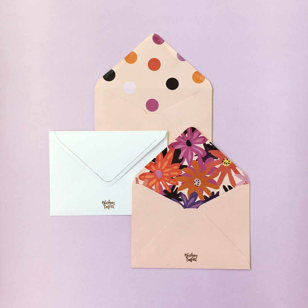 polka dot envelope