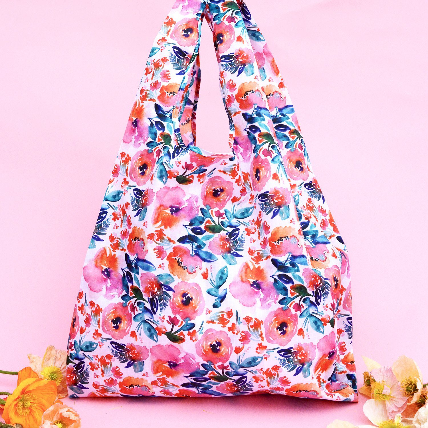 Candy Florals Reusable Shopping Bag