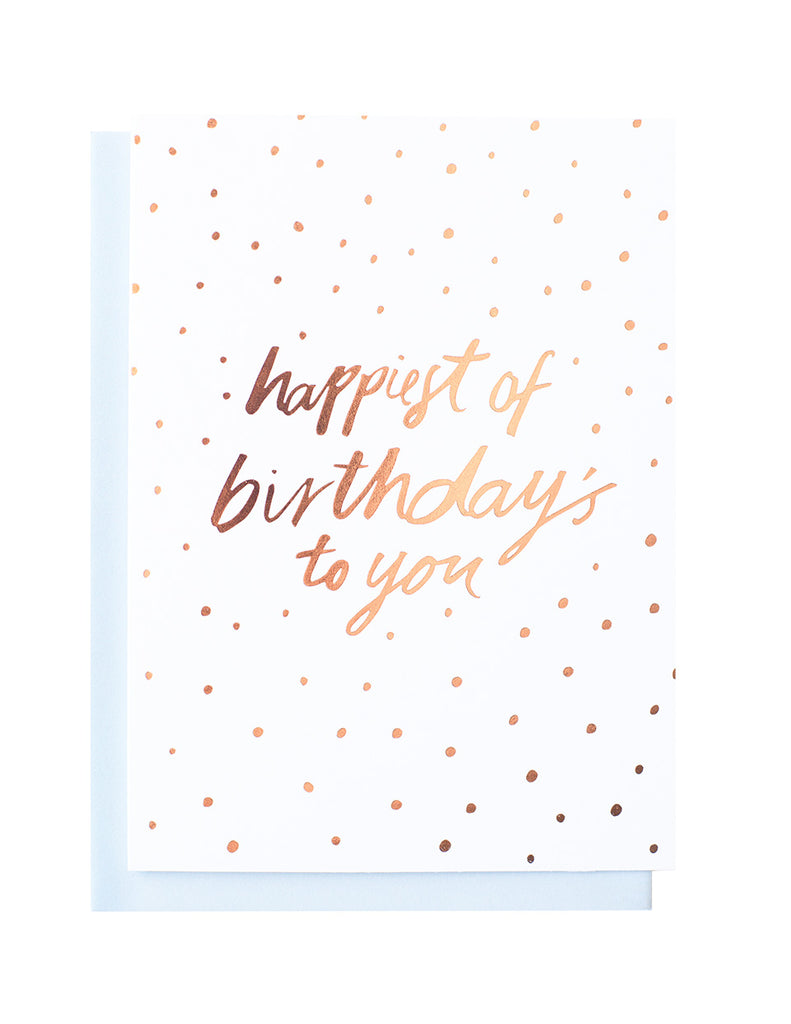 Happy Birthday Sweet foiled greeting card
