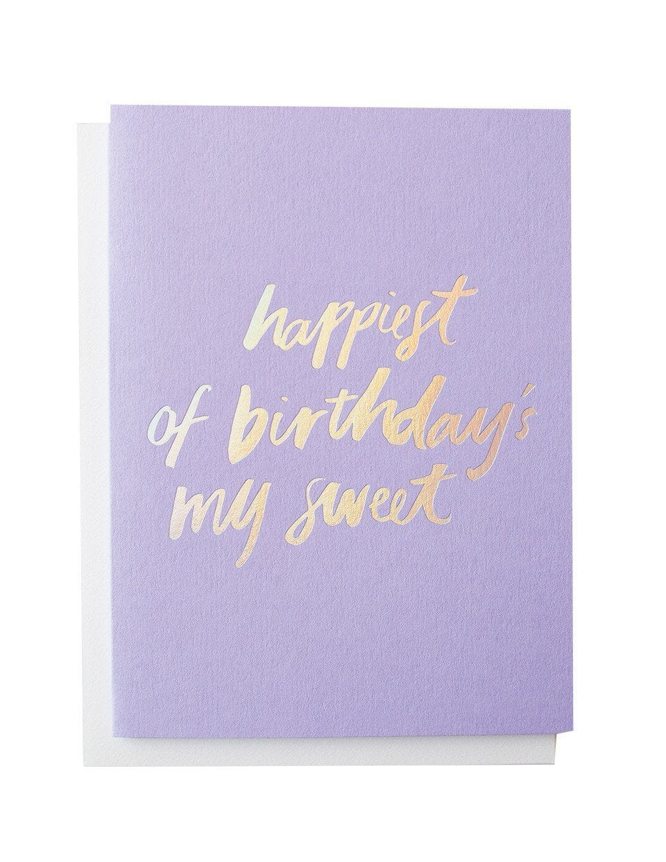 Happy Birthday Holographic foiled greeting card | Blushing Confetti