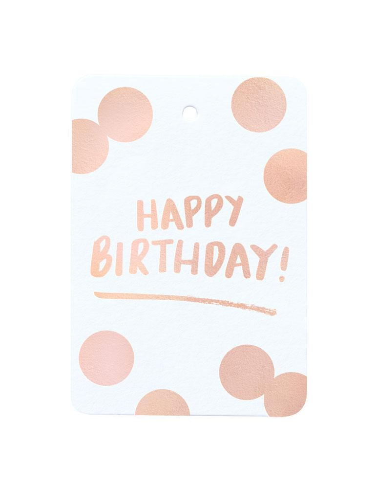 Happy Birthday Foiled Gift Tag