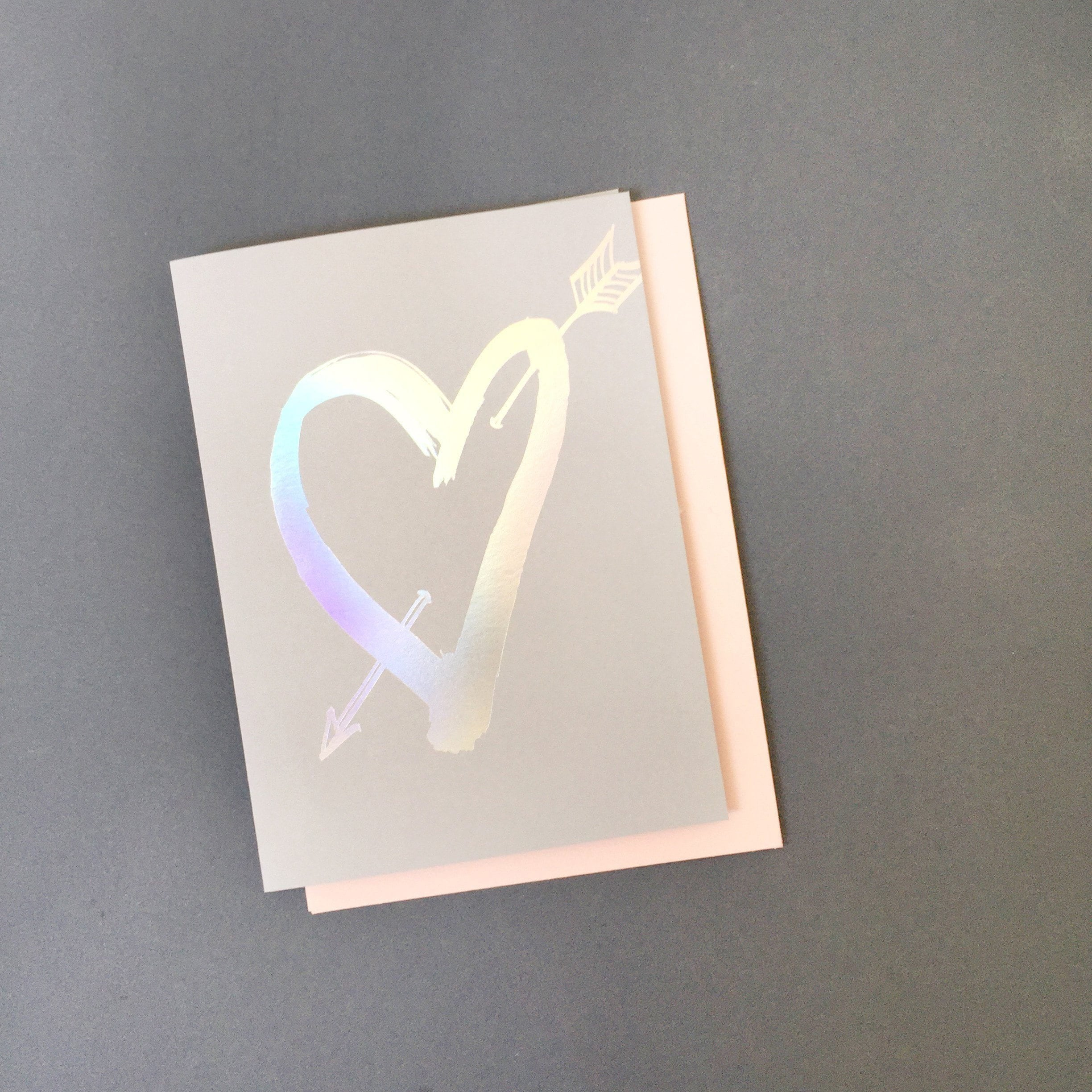 Cross my Heart Greeting Card | Blushing Confetti