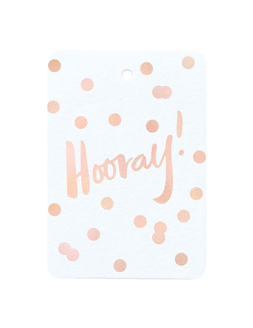 Hooray Foiled Gift Tag