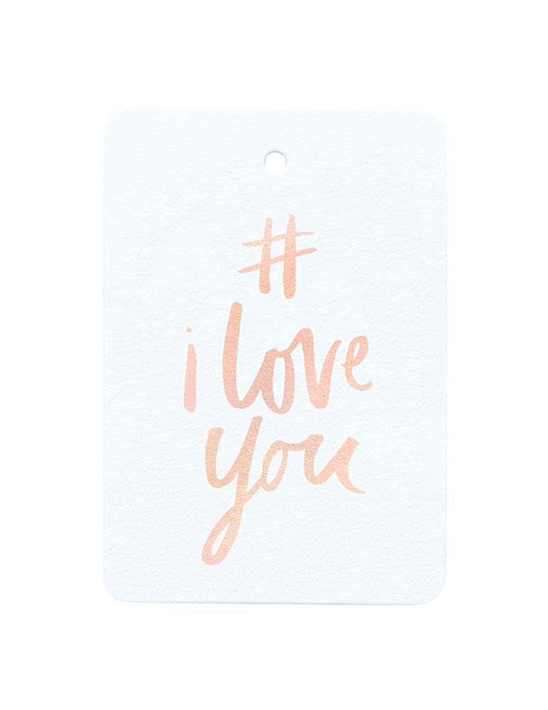 # I Love You Foiled Gift Tag