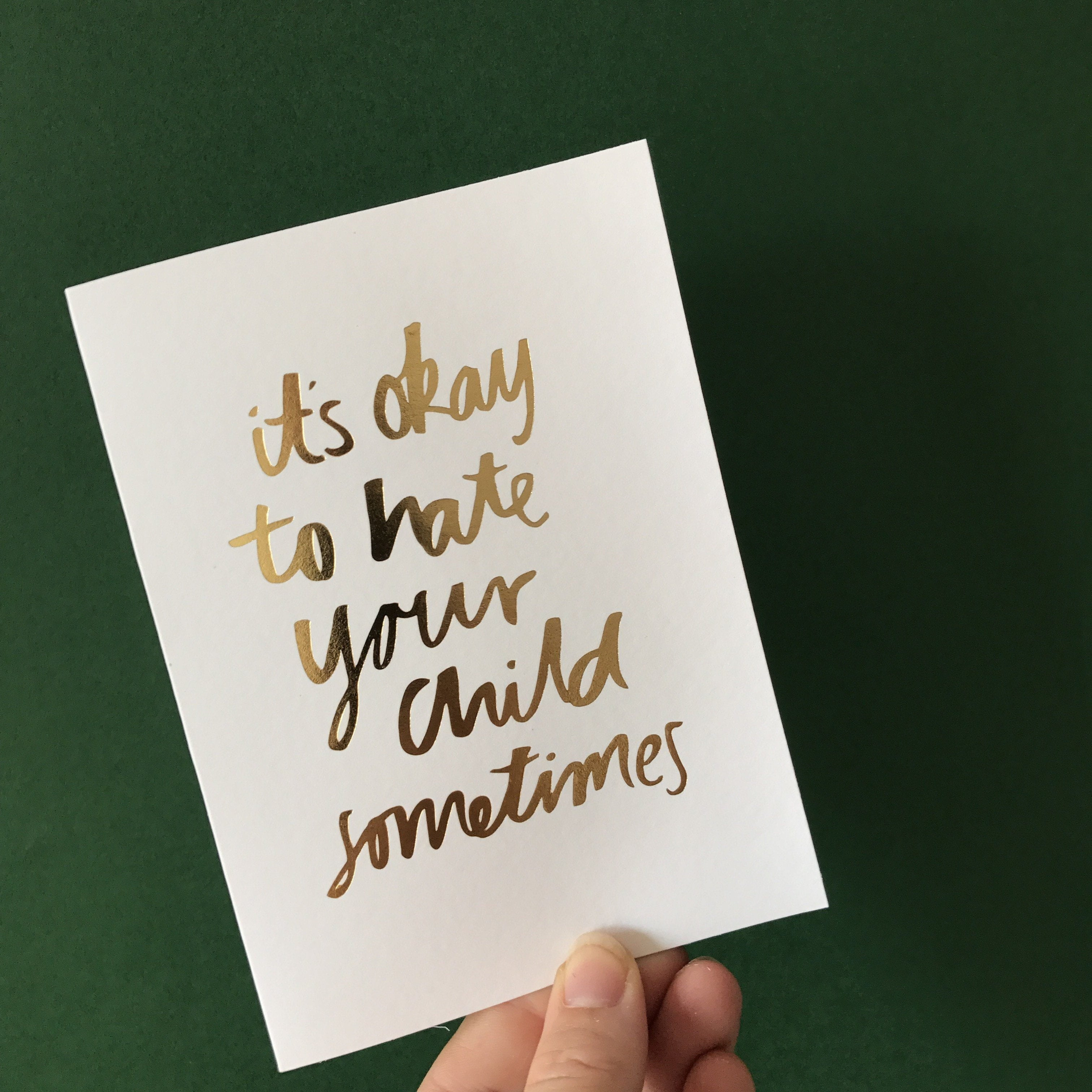 It's Okay foiled greeting card | Blushing Confetti