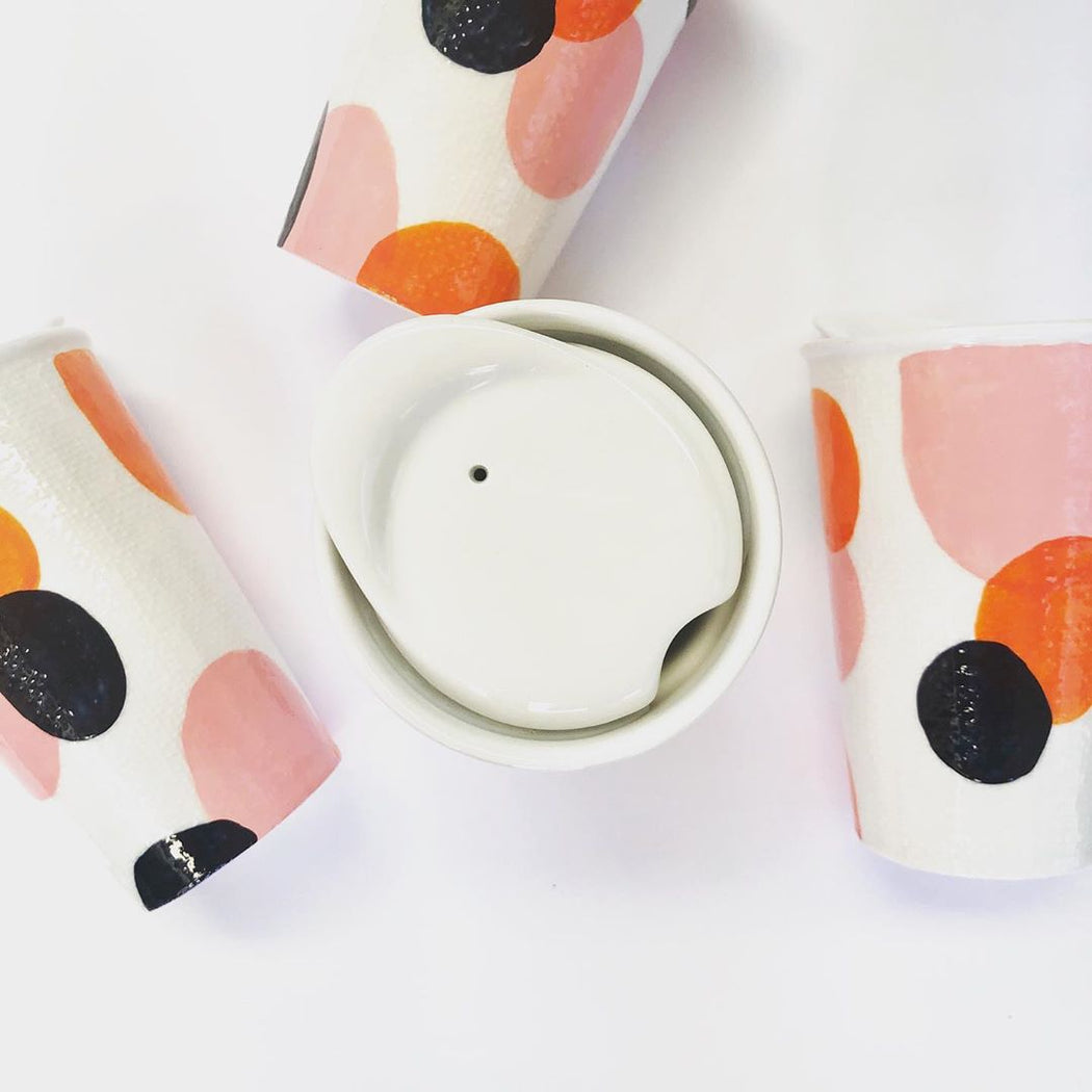 PRE-ORDER - Love Bug Ceramic Reusable Cup