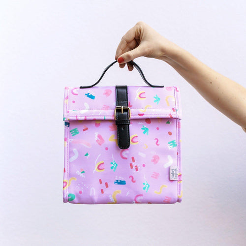 Lilac Pop Large Lunch Bag