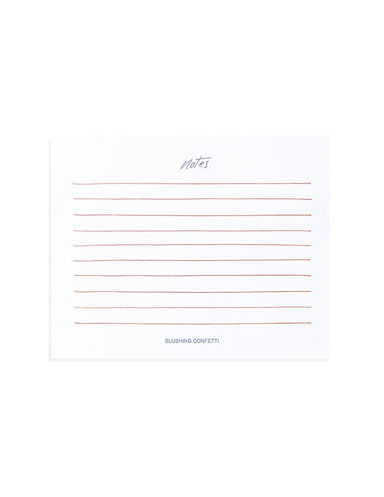Rose Gold Lined Notepad | Blushing Confetti